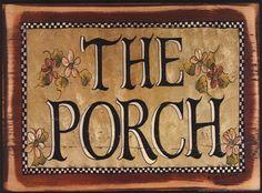 The Porch by Lisa Hilliker art print Wall Prints, Fine Art Prints, Primitive Folk Art, Pergola Patio, Pin And Patches, Vintage Photos, Wood Signs, Lisa, Clip Art