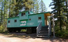 The Izaak Walton Inn in Essex, Montana lets you stay in (stationary!) renovated train cars.