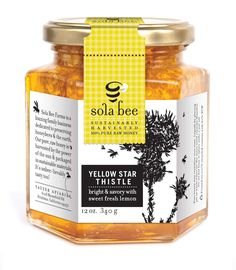 Sola Bee Honey... raw, pure honey by a company dedicated to preserving honey bees. A good thing :)