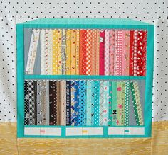 Fabric Shelf Block for Amber! by ayumills, via Flickr - Ayumi is a genius!