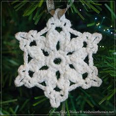 wishes in the rain: Free Pattern: Snowflake Wishes 5