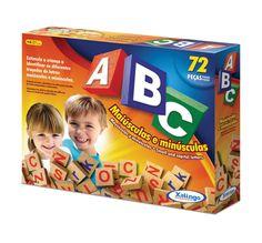 5266.5 - ABC | Com 72 peças em madeira. | Faixa etária: + 4 anos | Medidas: 26 x 5 x 20,5 cm | Educativos | Xalingo Brinquedos | Crianças