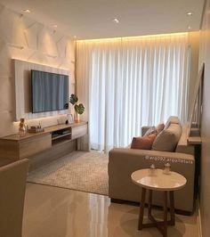 Compact and super cozy room, with the lighting even more enhancing the . Small Living Rooms, Home Living Room, Living Room Decor, Living Room Tv Unit Designs, Design Salon, Cozy Room, Apartment Interior, Small Apartment Design, Home Interior Design