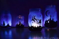 Make this mason jar table lamp and add a little light to your home!