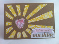 Courtney Lane Designs: Youre a ray of Sunshine card made using the NEW Simple Cards cartridge.