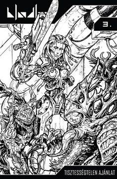 Bloodlust 3 (Limited Edition) cover by BloodlustComics on DeviantArt Comic Book Covers, Comic Books, Fantasy Comics, Cyberpunk, Deviantart, Disney, Mens Tops, Cartoons, Comics