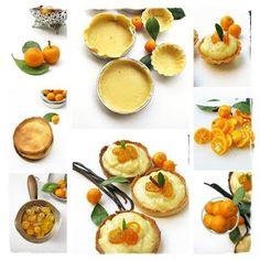 Orange Patisserie Tartlets with Candied Tangerines