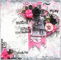 "Part Two of My 2Crafty Chipboard July DT Reveal""Capture, Enjoy, Treasure"""