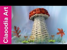 GRZYB, papierowa wiklina (mushroom, wicker paper) - YouTube