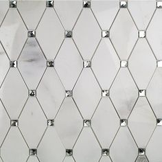 Ivy Hill Tile Mirage Lozenge Asian Statuary in. x 8 mm Marble and Glass Wall Mosaic - The Home Depot
