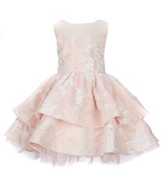 24b2eb8176db Chantilly Place Little Girls 4-6X Illusion-Neckline Embroidered  Fit-And-Flare Dress