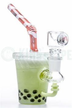 EMPIRE GLASSWORKS - MATCHA GREEN BOBA TEA MINI RIG on KING's Pipe Online Headshop #420 #710