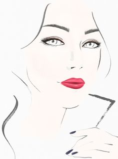 The Runway Collection. Parade-red lips meet contoured eyes and ink blue nails