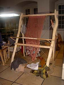 "ww loom at a ""long night of archaeology"" at the Landesmuseum Altes Schloss Stuttgart in 2005"