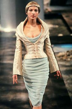 Alexander McQueen Spring 1998. That jacket would be awesome with pretty much any dress.