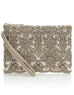 Adrianna beaded clutch
