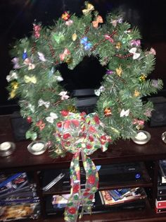 A wreath my daughter and I made together.