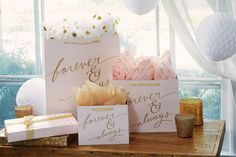 Sales Producers Inc. - Design Design Gift Packaging FOREVER AND ALWAYS Gift Packaging, Design Design, Bridal Shower, Place Cards, Favors, Place Card Holders, Gifts, Wedding, Couple Shower