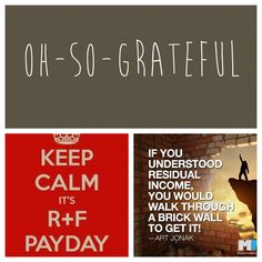 R + F payday! So glad I took the time to understand residual income! www.modernmomsonamission.com
