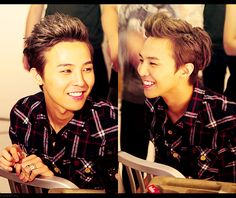 GD from Big Bang..  Plaid looks amazing on him, I love it when he dresses casually.