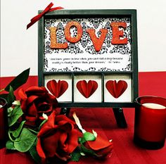 Learn how to make this fun shadow box for Valentine's Day. FREE instructions at http://bellacraftsquarterly.com/current-issue