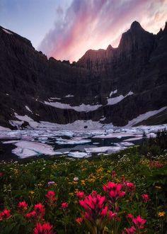 Iceberg Peak at Glacier National Park in Montana, USA