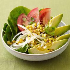 Great summer salad!Fresh corn, juicy tomatoes, creamy avocado—a fantastic combination. The dressing's so fabulous, you'll be making it all year long. #recipe #WWLoves #skinapalooza