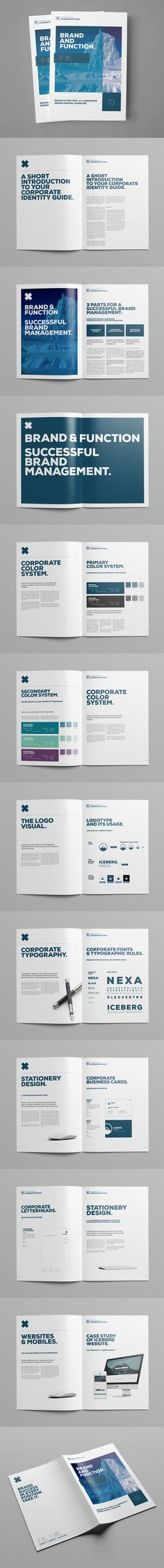 Brand Manual Brochure Template INDD, PSD - 24 Pages, A4 & US Letter size