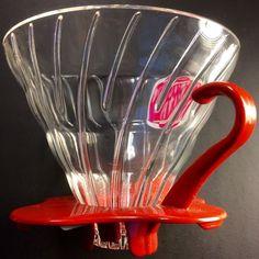 Hario VDG02R V60 02 Glass Coffee Dripper, Red, New UPC 4977642724471 #Hario