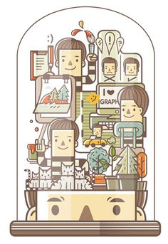 12 Ways to Live Happily Cheerfully Illustrated by Natthakorn Noiphim