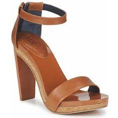 SANDALES TALONS NOISETTE ...sur www.shopwiki.fr ! #chaussures_femme #mode #sandales #talons #femme