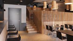 Neo arquitecturaymas: Separar espacios con listones de madera. Restaurante Gallastegui, Bilbao by Pauzarq