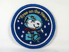 Snoopy Nasa Astronaut Patch Flying Ace, Nasa Astronauts, Vintage Patches, Starry Eyed, Look At The Stars, Patch Design, Space Travel, Space Exploration, Snoopy