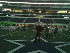 Ready for sound check at Cowboys Stadium