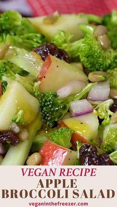 Apple Salad Recipes, Apple Recipes Easy, Healthy Salad Recipes, Veggie Recipes, Vegetarian Recipes, Cooking Recipes, Apple Broccoli Salad, Veggie Delight, Vegan Meal Prep