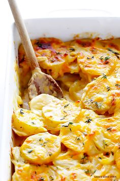 My all-time FAVORITE scalloped potatoes recipe! Easy to make, and so flavorful and awesome. | gimmesomeoven.com