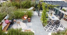 Cerámicos y porcelánicos para exteriores Back Gardens, Outdoor Gardens, Outside Tiles, Gazebos, Contemporary Garden, Rooftop Garden, Outdoor Rooms, Dream Garden, Garden Furniture