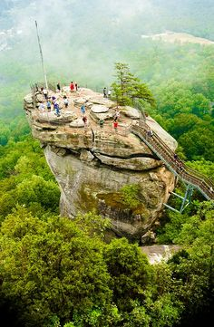 Chimney Rock, North Carolina.. when I come I would love to take you and the family there... if your up to it...