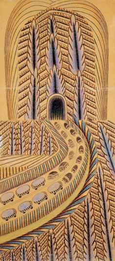 Martin Ramirez  (1895 –1963) Mexican,was  a  self-taught artist,diagnosed as a catatonic schizophrenic