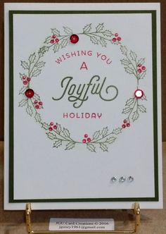 Christmas, Holiday card made using the Merry & Bright Boughs #Stamp of Approval Christmas Collection