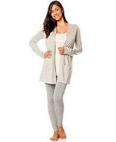 Bump In The Night™ 3-Piece Nursing Pajama Set - Maternity - Women - Macy's