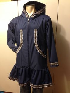Today's waterproof special order.   Navy PUL with silver Celtic trim and double white rick rack. I love how it turned out.