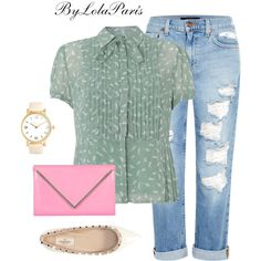 Casual and Chic Spring Season By LolaParís #076 by bylolaparis on Polyvore featuring moda, Dickins & Jones, Genetic Denim, Valentino and Forever 21