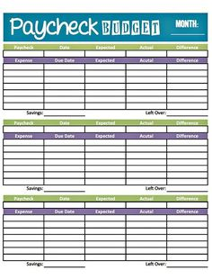 Free Printable Budget Worksheets  Download Or Print  Budgeting