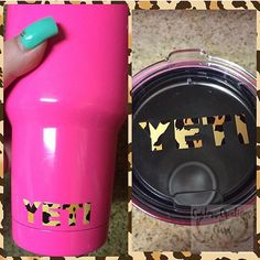 Cheetah Yeti Lid Decal Yeti Logo for Rambler and Tumbler - Any Color - Glitter - 30oz - 20oz - Pattern - Leopard by CustomCreationsByCP on Etsy https://www.etsy.com/listing/287823073/cheetah-yeti-lid-decal-yeti-logo-for