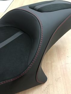 Victory cross country seat. Custom stitching. Leather and alcantara  #buxcustoms