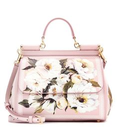Dolce & Gabbana - Miss Sicily Medium printed leather shoulder bag - Dolce & Gabbana adds floral charm to the new season with this oh-so covetable Miss Sicily bag. The classic shape is finished with gold-tone accents for a timelessly glamorous look, while the paint-style floral design adds additional feminine punch. Let it instantly elevate your go-to pair of tailored trousers. seen @ www.mytheresa.com