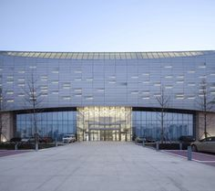 Haining Leather City, Wuhan, China / Highthink architects - 谷德设计网 Facade Lighting, Wuhan, Architects, Commercial, China, Building, Leather, Buildings, Porcelain