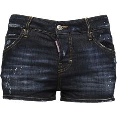 Blue Cotton Shorts (660 BRL) ❤ liked on Polyvore featuring shorts, blue, blue cotton shorts, blue shorts and dsquared2