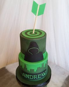 The Arrow themed birthday cake for a huge fan! This one kept me up all night so…